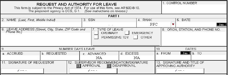 daform31 da31 army leave form da forms da 4856 – Body Fat Worksheet Army